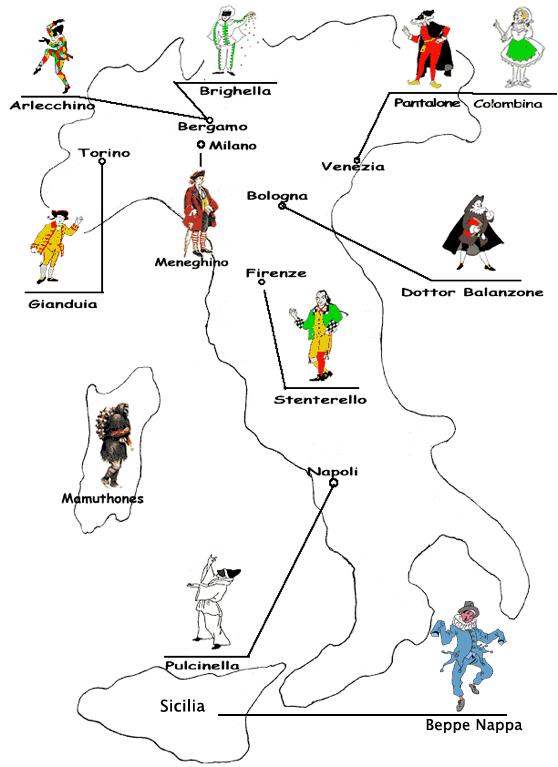Arte e immagine siamoinseconda for Maschere di carnevale classiche